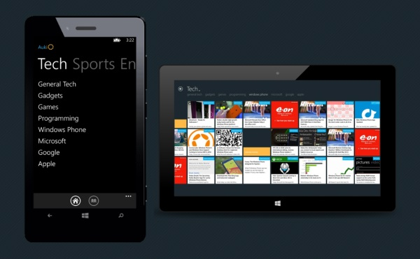 Auk.io News for Windows Phone and Windows 8